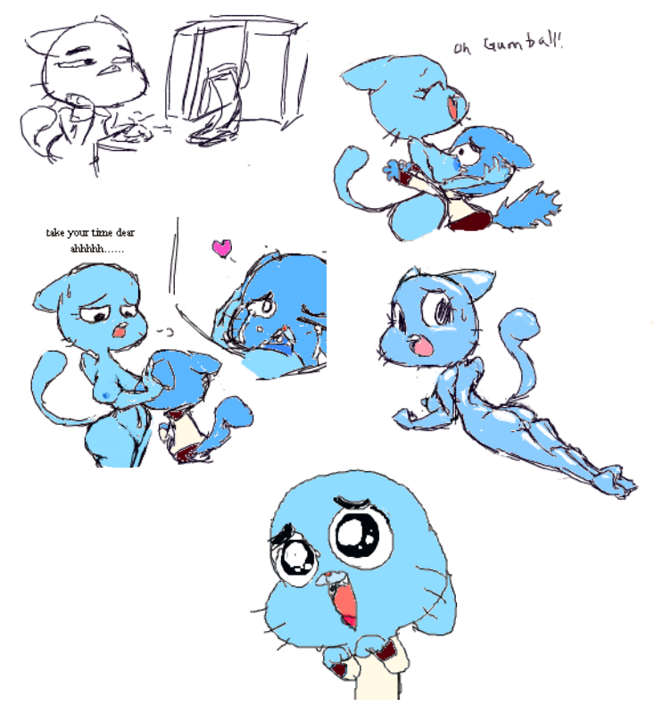 of henti world the amazing gumball Tails and cosmo have sex