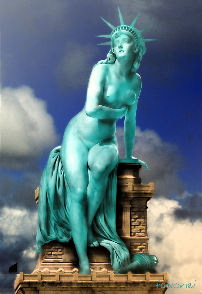 liberty statue of Another story of fallen maidens