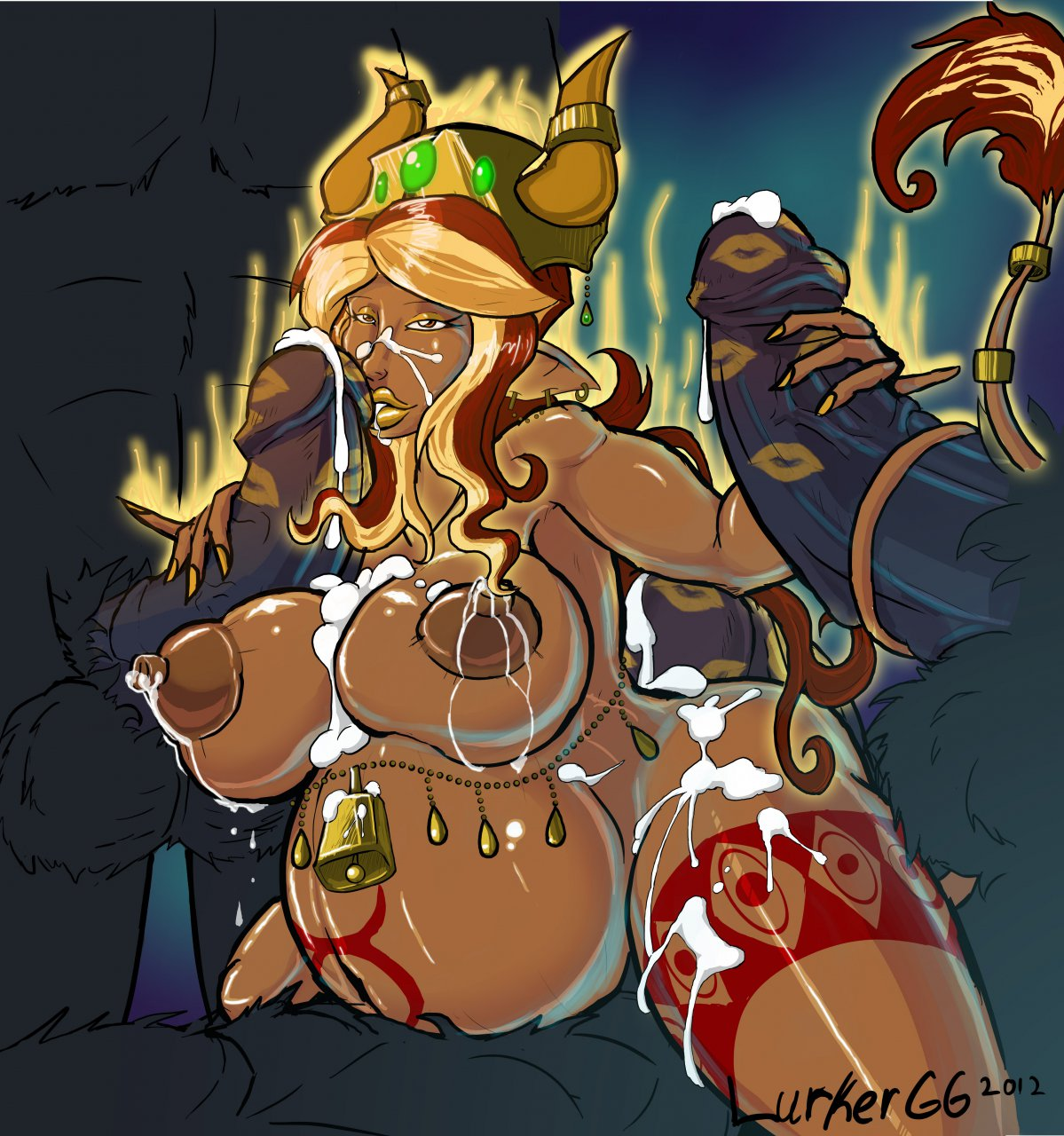 girl champions corruption goo of Forest of blue skin gif